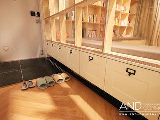 앤드컴퍼니 現代風玄關、走廊與階梯