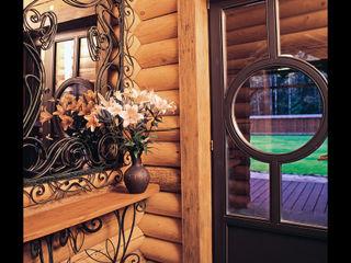 D&T Architects Pasillos, vestíbulos y escaleras rurales