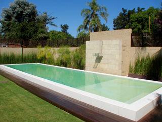 Piscinas Scualo Moderne Pools Kalkstein Weiß