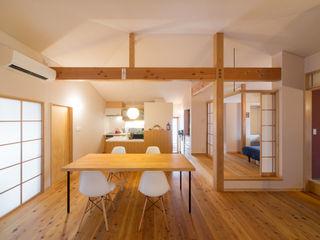 小さな平屋の家 FAD建築事務所 モダンデザインの ダイニング
