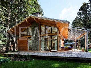 NEWOOD - Современные деревянные дома Casas de estilo rural