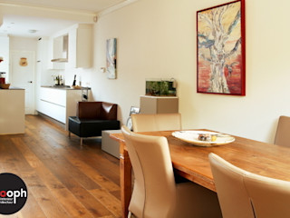 Interne verbouwing keuken en woonkamer Sooph Interieurarchitectuur Moderne woonkamers