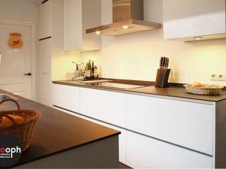 Interne verbouwing keuken en woonkamer Sooph Interieurarchitectuur Moderne keukens