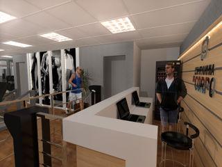 Konverto Interiores + Arquitetura Gimnasios domésticos de estilo moderno