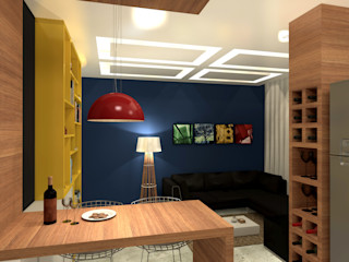 Konverto Interiores + Arquitetura Salones de estilo moderno
