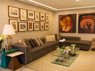 Jamile Lima Arquitetura 现代客厅設計點子、靈感 & 圖片