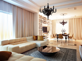 Nigeria II KAPRANDESIGN Гостиная в стиле модерн Желтый