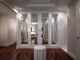 NYC. East 40th Street KAPRANDESIGN Коридор, прихожая и лестница в классическом стиле Серый