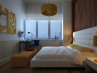 NYC. The silence KAPRANDESIGN Спальня в стиле минимализм Дерево