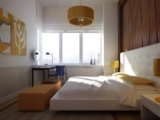 NYC. The silence KAPRANDESIGN Спальня в стиле минимализм Изделия из древесины