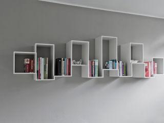 Skyline bookshelve Nick Ronde Ontwerpen Multimedia ruimteOpbergen