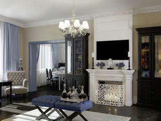 Massimos / cтудия дизайна интерьера Phòng khách phong cách kinh điển