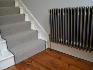 Column Radiators Mr Central Heating Modern corridor, hallway & stairs