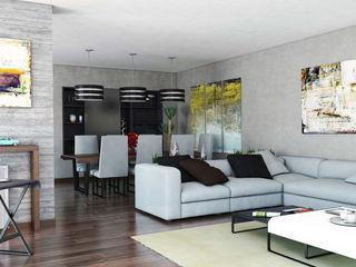 Ideas sencillas para crear dos ambientes en un salón comedor Mariola Báez Salones de estilo moderno