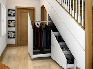 Innovative storage solutions. homify Modern Corridor, Hallway and Staircase