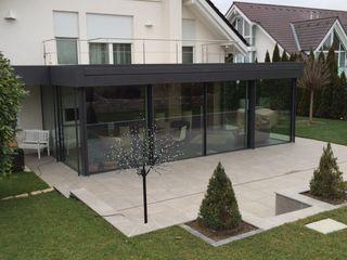 Wintergarten - minimalistische Formen Metallbau Beilmann GmbH Minimalistischer Wintergarten