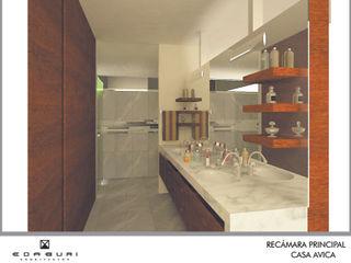 ANGOLO-grado arquitectónico Baños de estilo mediterráneo Beige