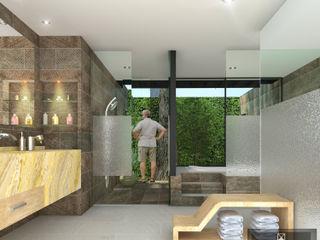 ANGOLO-grado arquitectónico Baños de estilo moderno Cerámico