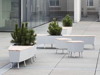 Mobilier outdoor Vue Jardin JardinMeubles Aluminium/Zinc Blanc