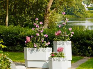 Bacs & Jardinières Vue Jardin JardinPots de fleurs & vases Fer / Acier Blanc