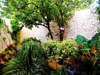 Patio Amarillo Taller Estilo Arquitectura Jardines modernos: Ideas, imágenes y decoración
