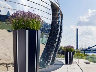 Bacs & Jardinières Vue Jardin JardinPots de fleurs & vases Aluminium/Zinc Noir