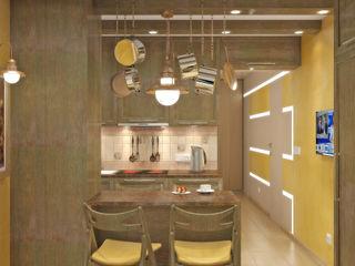 Симуков Святослав частный дизайнер интерьера Mediterranean style kitchen Yellow