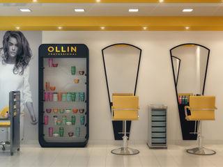 Симуков Святослав частный дизайнер интерьера Minimalist study/office Yellow