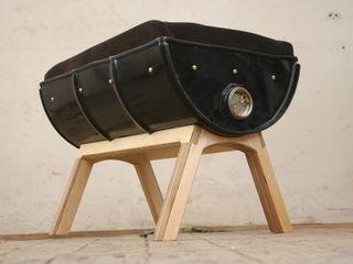 Fasshocker Wandelwerk WohnzimmerHocker und Stühle Metall Schwarz