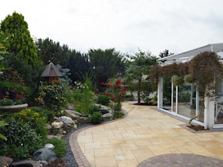 Kleiner Natursteingarten Nagelschmitz Garten- und Landschaftsgestaltung GmbH Mediterraner Garten