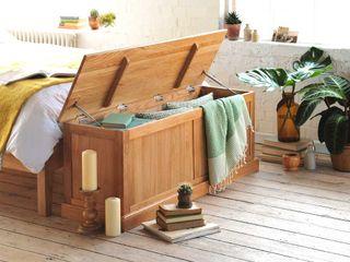 Appleby Oak Wide Ottoman Box The Cotswold Company Landelijke eetkamers Hout
