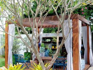 RABAIOLI I FREITAS Tropical style garden Wood Green