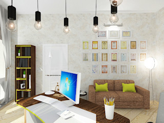 Design Rules Eclectic style study/office