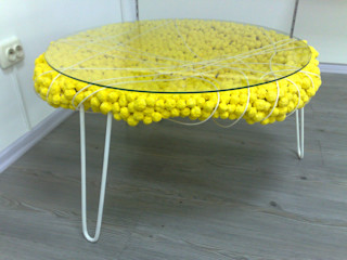 tanya zaichenko Living roomSide tables & trays Yellow