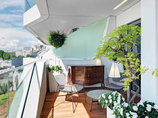 Studio Marco Piva Moderner Balkon, Veranda & Terrasse