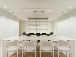 TENTER Arquitectura y Diseño Modern Dining Room Wood White