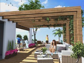 Milla Arquitectos S.A. de C.V. Balcones y terrazas de estilo minimalista