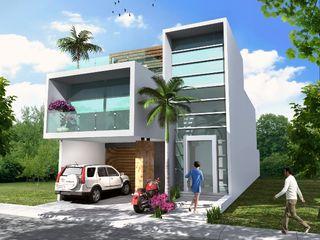 Milla Arquitectos S.A. de C.V. Casas de estilo minimalista Blanco