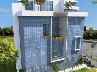 Milla Arquitectos S.A. de C.V. Casas de estilo minimalista Vidrio Blanco