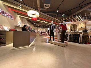 Bodengestaltung Schauraum IBOD Wand & Boden Moderne Ladenflächen