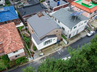 창원 재미있는 집 (주)유타건축사사무소 모던스타일 주택 벽돌 그레이