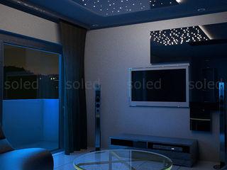 SOLED Projekty i Dekoracje Świetlne Jacek Solka ห้องนั่งเล่นไฟห้องนั่งเล่น