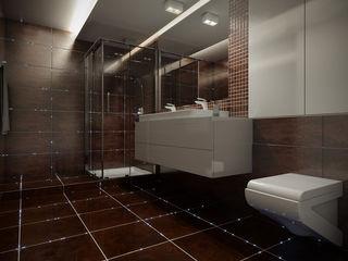 SOLED Projekty i Dekoracje Świetlne Jacek Solka ห้องน้ำไฟห้องน้ำ