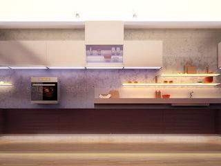 SOLED Projekty i Dekoracje Świetlne Jacek Solka ห้องครัวไฟห้องครัว