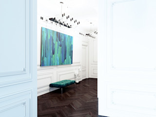 Dara Design Eclectic style corridor, hallway & stairs Turquoise