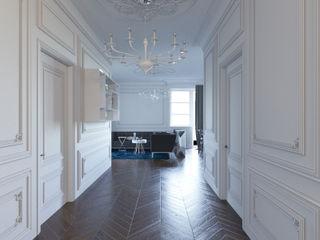 Dara Design Eclectic style corridor, hallway & stairs White