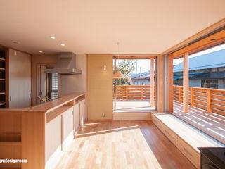 アグラ設計室一級建築士事務所 agra design room Dining room لکڑی