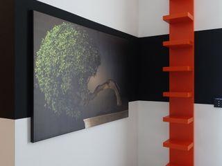 J.Design Paredes y suelos de estilo moderno Naranja