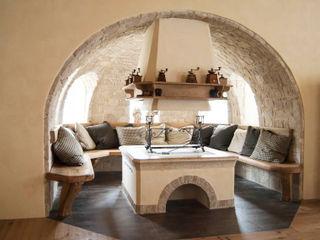 RI-NOVO Rustic style living room Solid Wood Beige