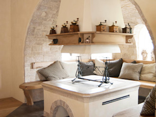 RI-NOVO Rustic style living room Stone White